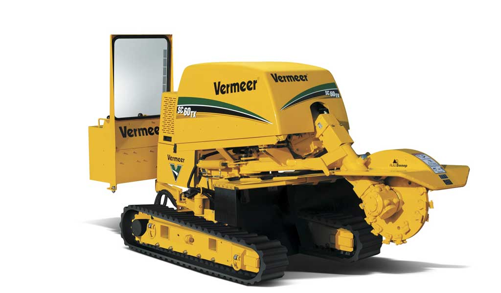 SC60TX Vermeer en acción