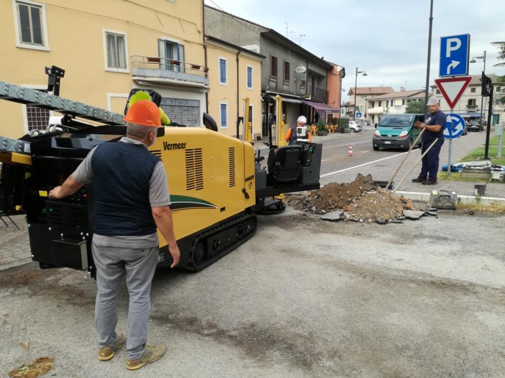 Perforadora Vermeer proyecto urbano